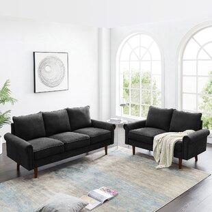 Fadak 2 Piece Velvet Living Room Set by Red Barrel Studio