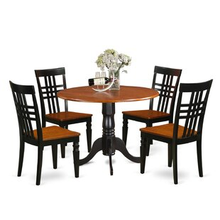 5 Piece Dining Set by East West Furniture Savings