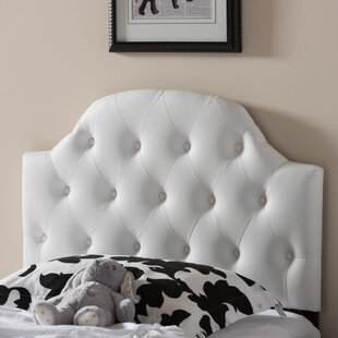 Lucrezia White Scalloped Queen Upholstered Panel Headboard by Andover Mills