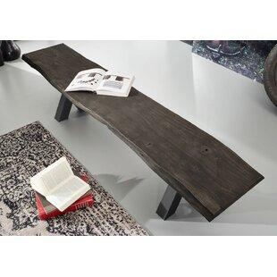Iron Label Metal/Wood Bench By Massivmoebel24