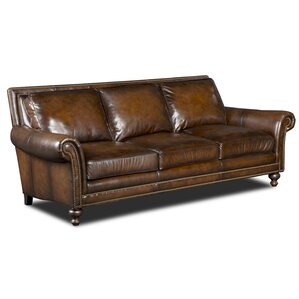 Stationary Leather Sofa by Hooker Furniture
