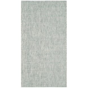 Adelia Gray/Turquoise Indoor/Outdoor Area Rug