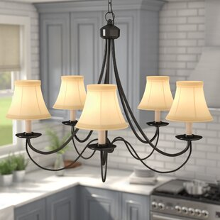 Lewellen 5-Light Shaded Chandelier by Three Posts
