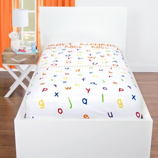 Harkey Alphabet ABCs And Rhyming Pairs Educational Microfiber Sheet Set by Zoomie Kids No Copoun