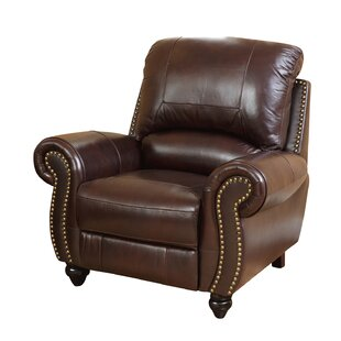 Darby Home Co Kahle Leather Manual Recliner