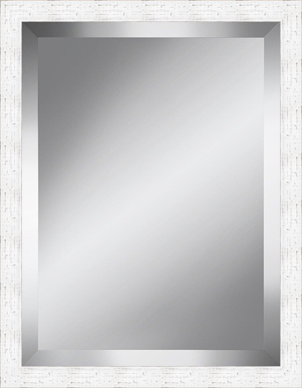 Latitude Run 2 5 Wood Frame Beveled Plate Accent Mirror Reviews Wayfair