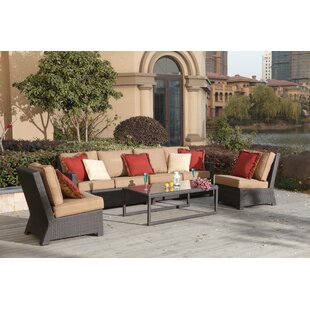 Stockholm 5 Piece Sectional Set with Cushions
