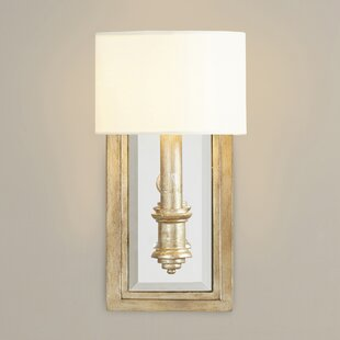 Wall sconces birch lane clemson 1 light candle wall light aloadofball Image collections