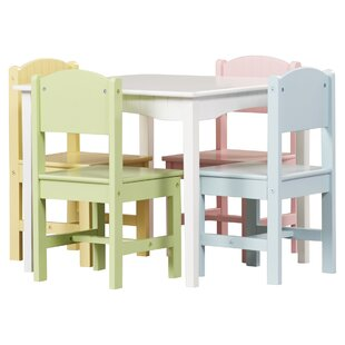 Nantucket Kids 5 Piece Writing Table & Chair Set by KidKraft