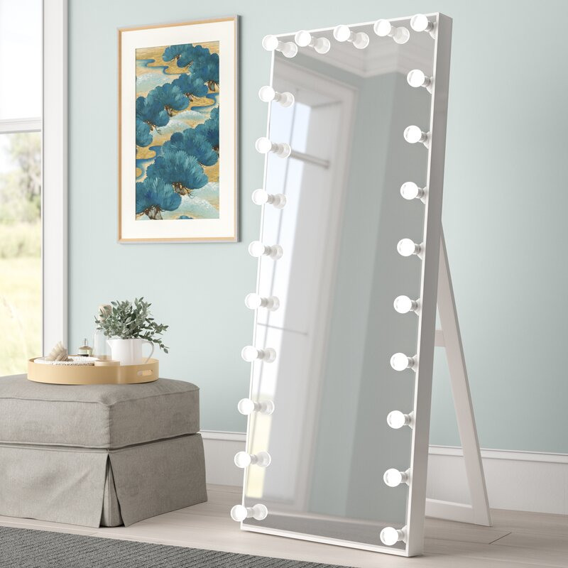 Symple Stuff Laleia Lighted Full Length Mirror Wayfair