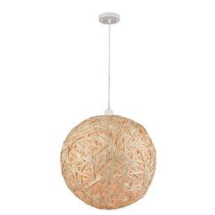 Jodi 1-Light Globe Pendant by Wrought Studio