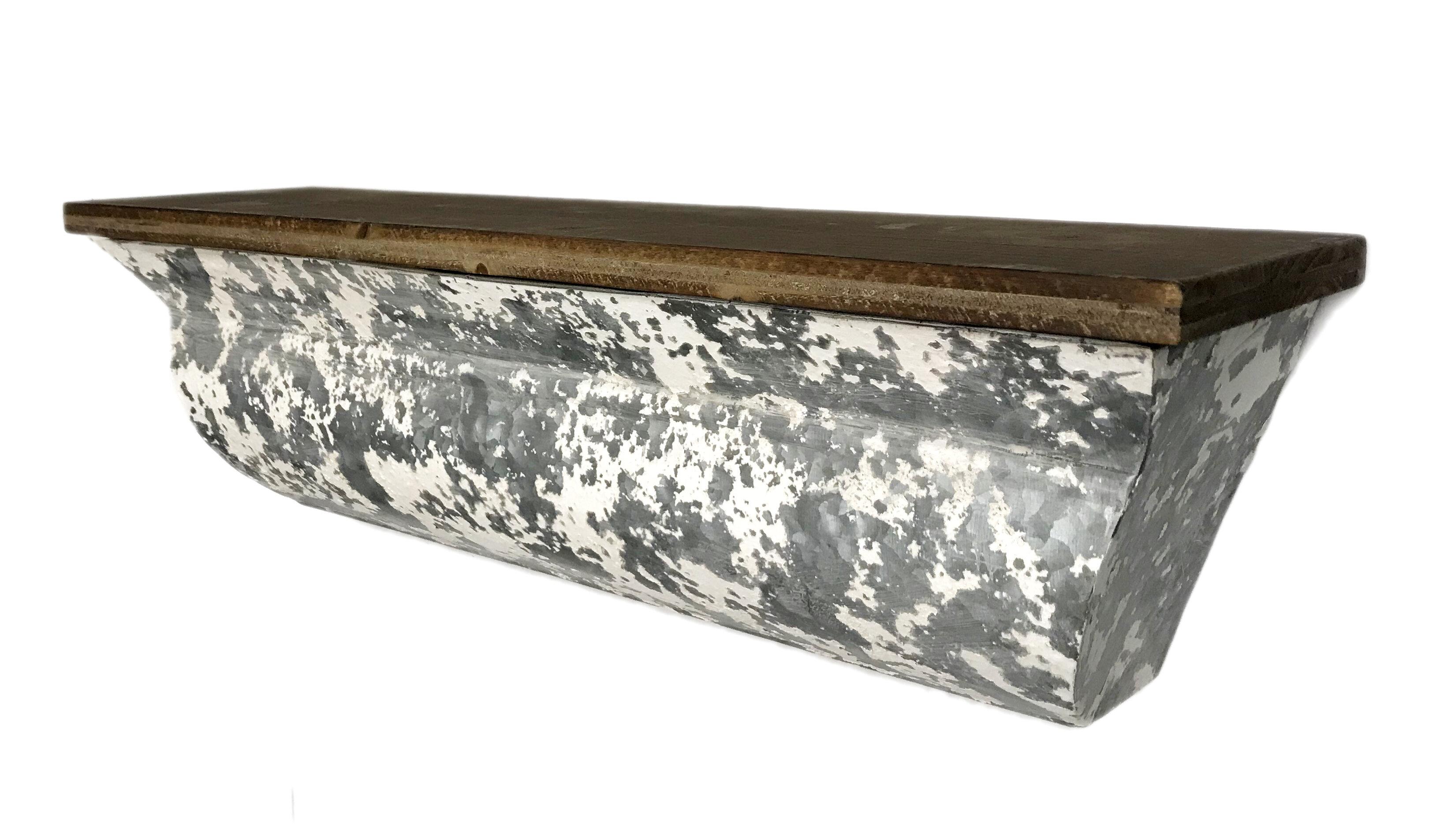 theroux metal floating shelf