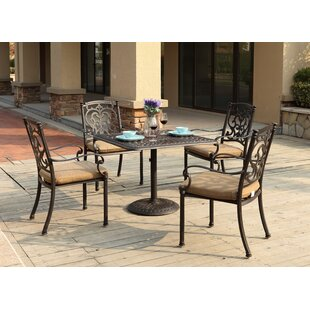 Palazzo Sasso 5 Piece Square Dining Set with Cushions