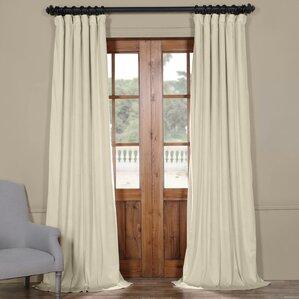 riverton plush velvet 100 polyester single curtain panel