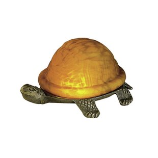 Meyda Tiffany Turtle Animals Art Glass Accent Table Lamp