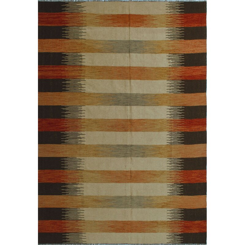 Isabelline One Of A Kind Reta Kilim Rusty Hand Woven Wool Red Area Rug Wayfair
