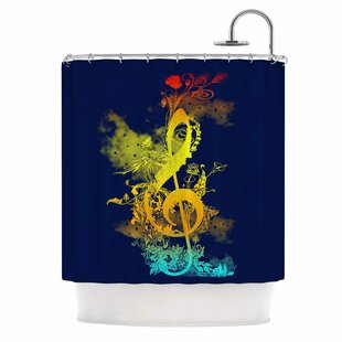 Sound Of Nature By Federic Levy Hadida Music Shower Curtain