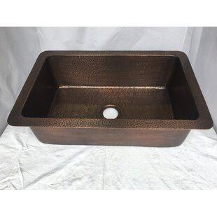 hand hammered 32   x 21   drop in kitchen sink left handed kitchen sink   wayfair  rh   wayfair com