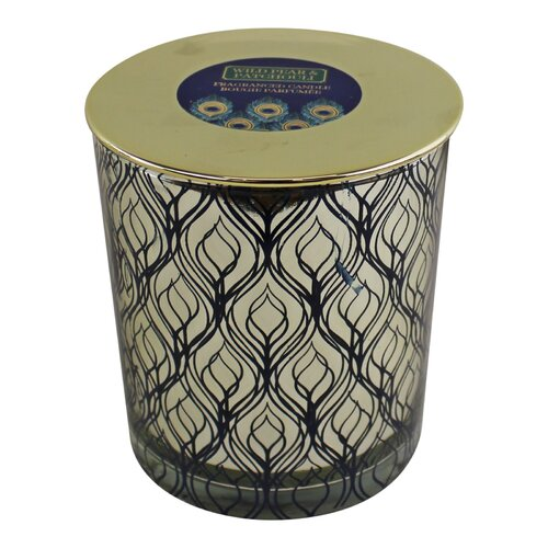 Peacock Wild Pear and Patchouli Scented Jar Candle Geko