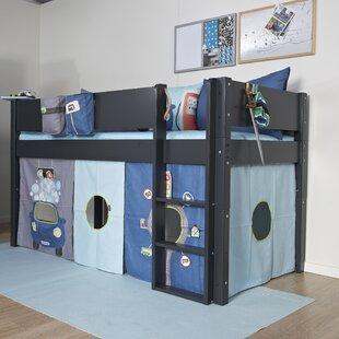 Antoine European Single Mid Sleeper Bed With Textile Set By Harriet Bee