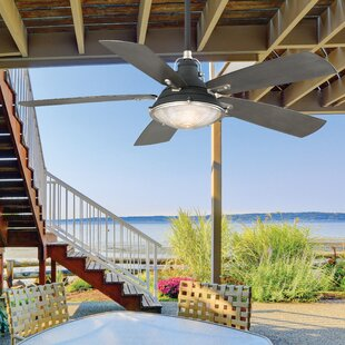 Best Price 56 Groton 5 Blade LED Ceiling Fan with Remote, Light Kit Included By Minka Aire