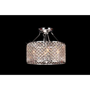 Mckean Round 4-Light Semi Flush Mount by House of Hampton
