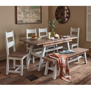 Scotland Extendable Dining Set With 6 Chairs By August Grove