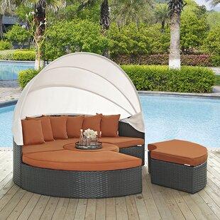 Tripp Patio Daybed with Sunbrella Cushions by Brayden Studio