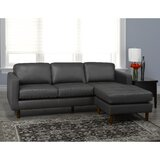 Twyla 88 Wide Genuine Leather Right Hand Facing Sofa & Chaise by Brayden Studio®
