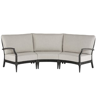 Euston 3 Piece Sunbrella Sectional Set With Cushions by Canora Grey Herry Up