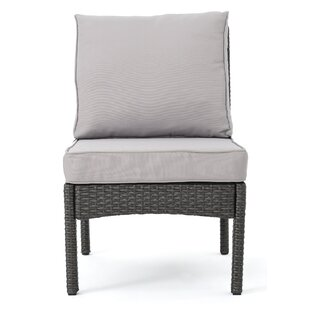 Dia Outdoor Wicker Armless Sectional Sofa..