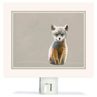 Oopsy Daisy Baby Fox - Neutral by Cathy Walters Canvas Night Light