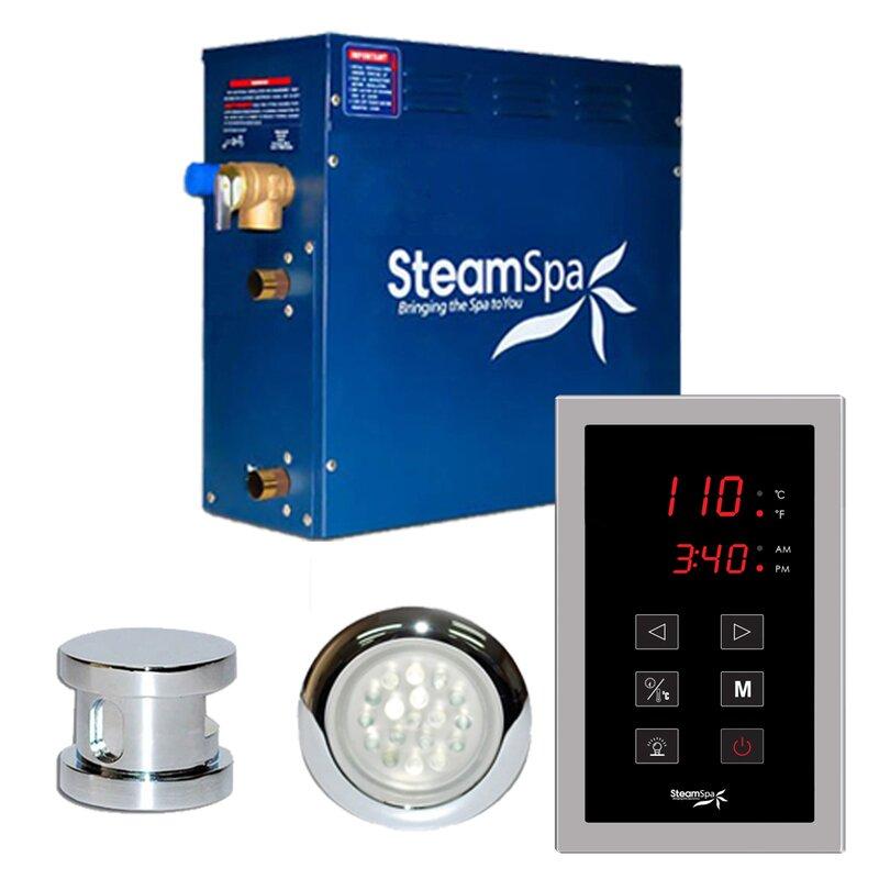 Steam Spa Steamspa Indulgence 7 5 Kw Quickstart Steam Bath Generator Package In Polished Chrome Wayfair