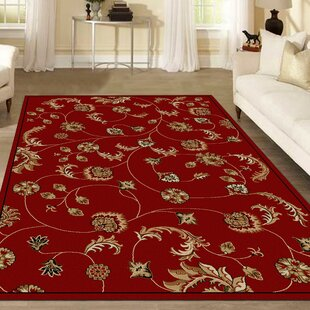 Affordable Trevion Red Area Rug ByCharlton Home