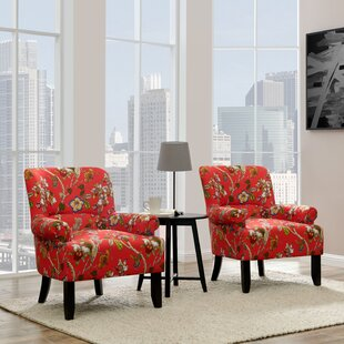 Romer Rolled Armchair (Set Of 2) by Red Barrel Studio Bargain