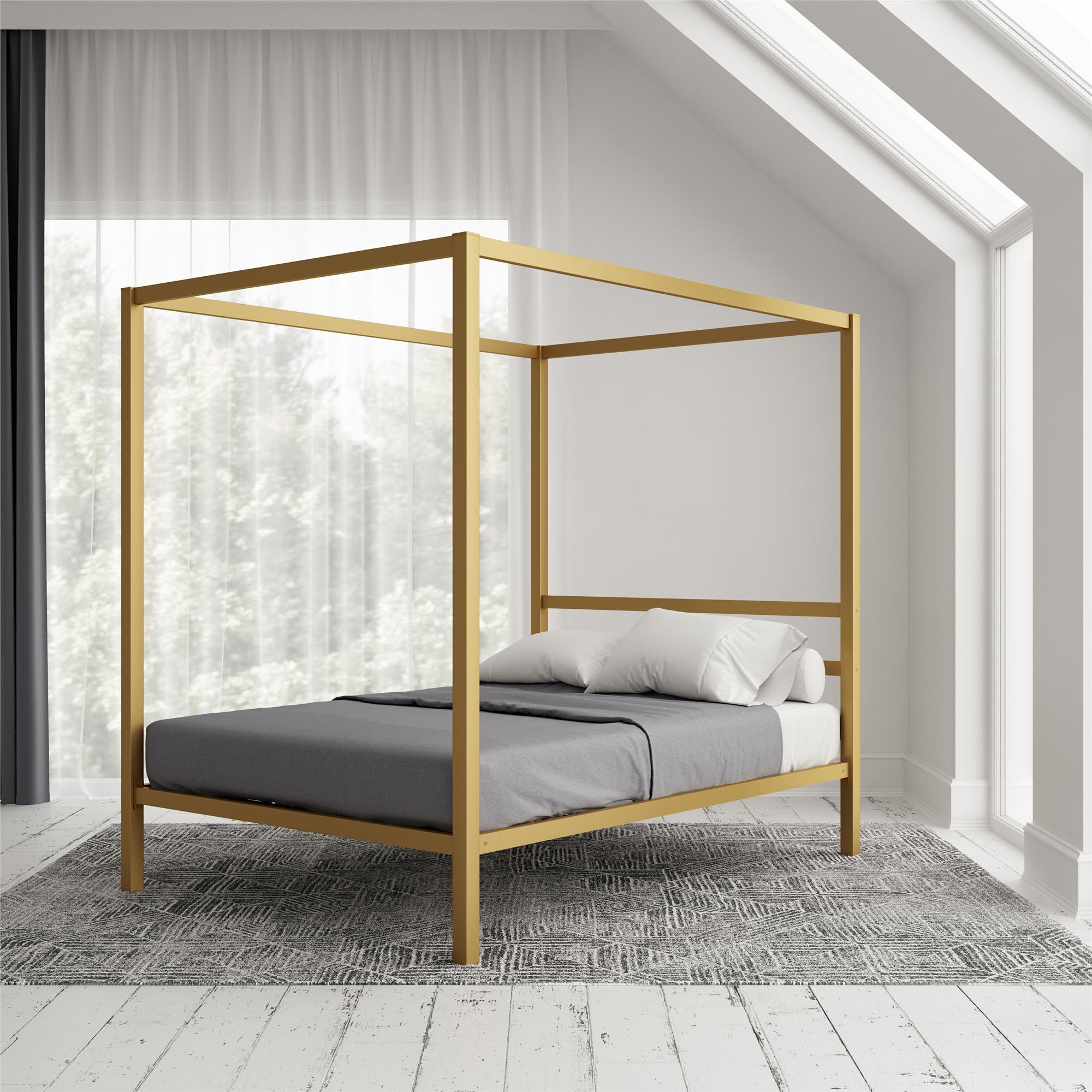 Hashtag Home Dubay Canopy Bed Reviews Wayfair
