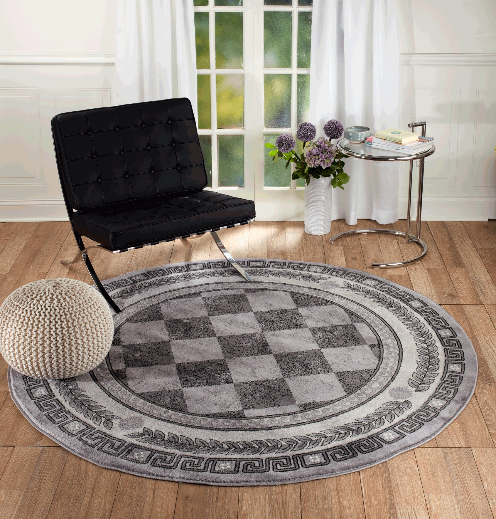Red Barrel Studio Morton Gray Wool Area Rug Wayfair