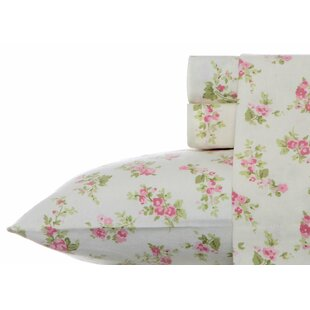 Audrey Floral 100% Cotton Flannel Sheet Set by Laura Ashley Home