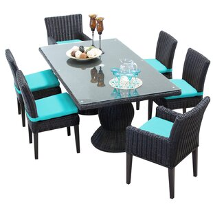 Rosecliff Heights Eldredge 7 Piece Dining Set with Cushions