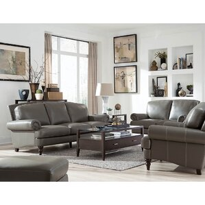 Ewing Leather Configurable Living Room Set