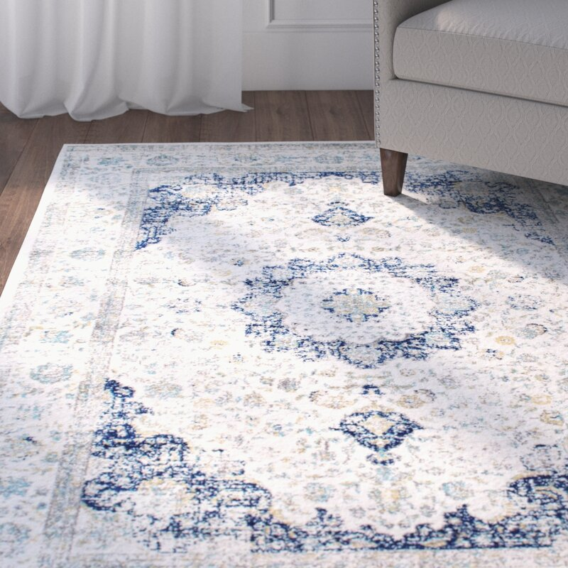 Emely Blue Grey Area Rug