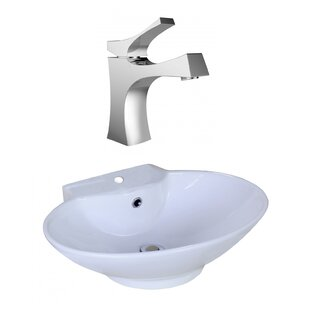 Reviews Ceramic Oval Vessel Bathroom Sink with Faucet and Overflow By American Imaginations