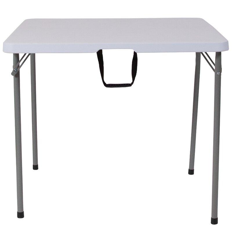 flash furniture bi fold 34 square folding table reviews wayfair
