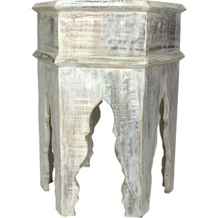 Cockburn Solid Wood Abstract End Table By Bungalow Rose