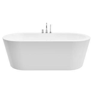 Best Reviews Una 71 x 24 Freestanding Soaking Bathtub ByA&E Bath and Shower