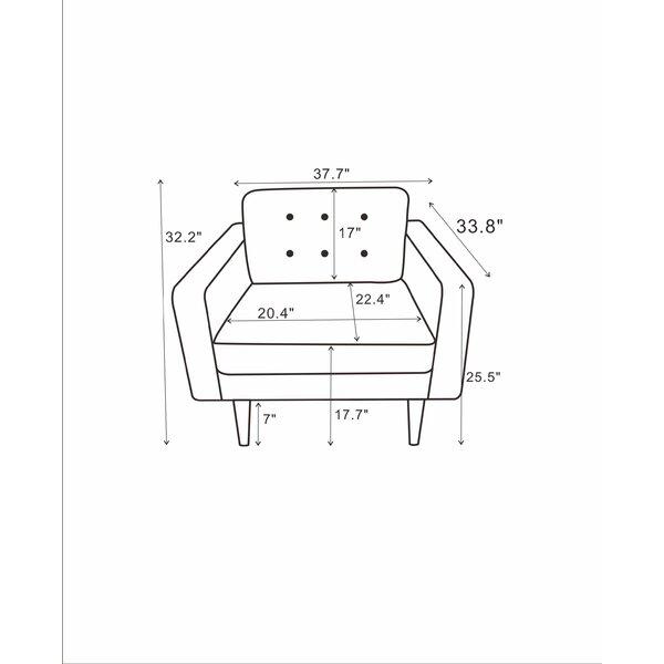37.5'' Wide Velvet Armchair