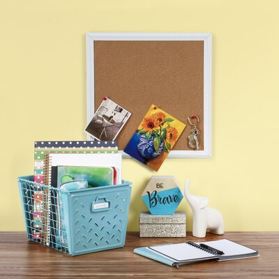 Turn on the Brights Metal Basket Color: Teal