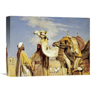 U0027Greetings In The Desert, Egyptu0027 By John Frederick Lewis Painting Print On  Wrapped Canvas