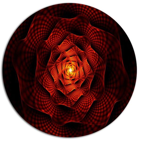 Designart Fractal Red Flower Of Passion Graphic Art Print On Metal Wayfair