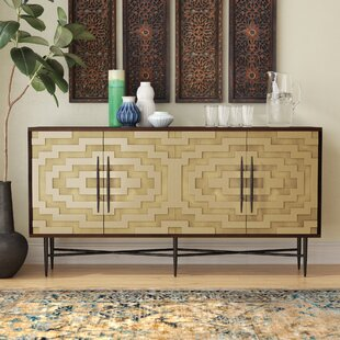 Marcantonio Brass Sideboard by Bungalow Rose